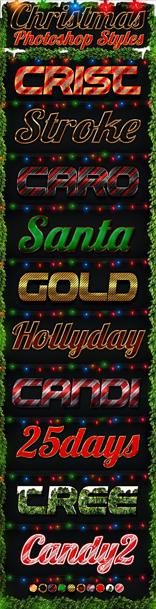 Christmas Photoshop Styles - Text Effects Styles