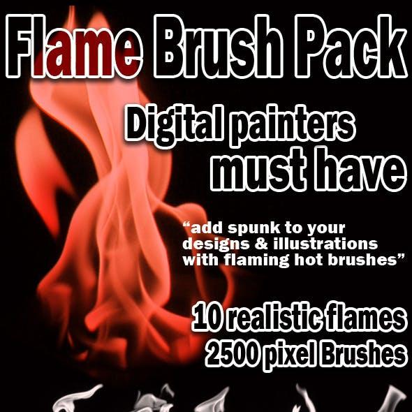 Realistic Flame Brush Set