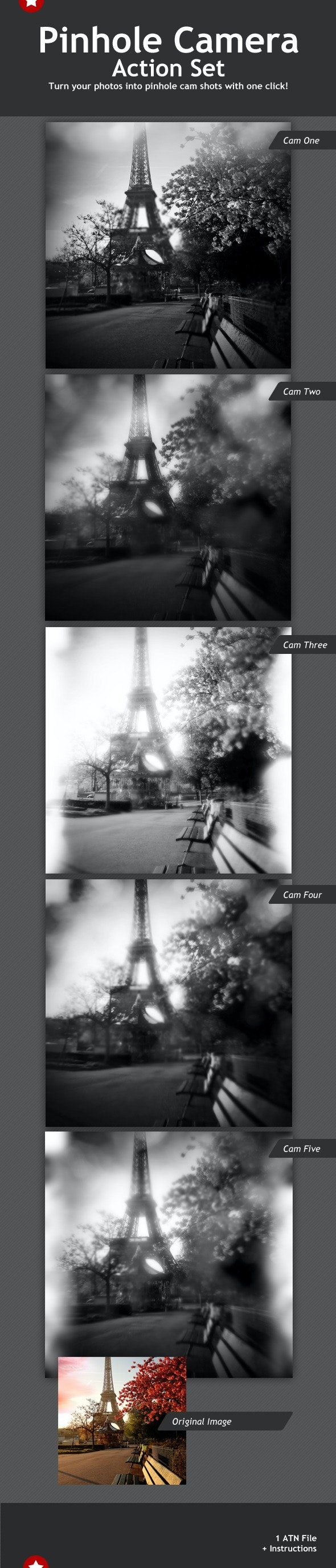 Pinhole Camera Actions Set - Photo Effects Actions