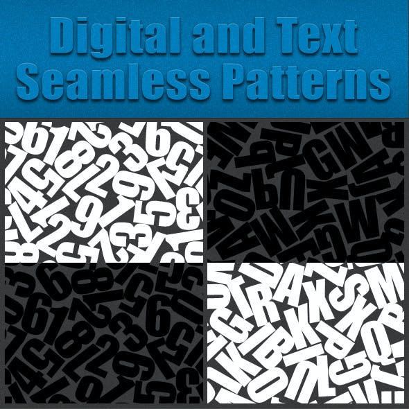 Digital and Text  Seamless Patterns