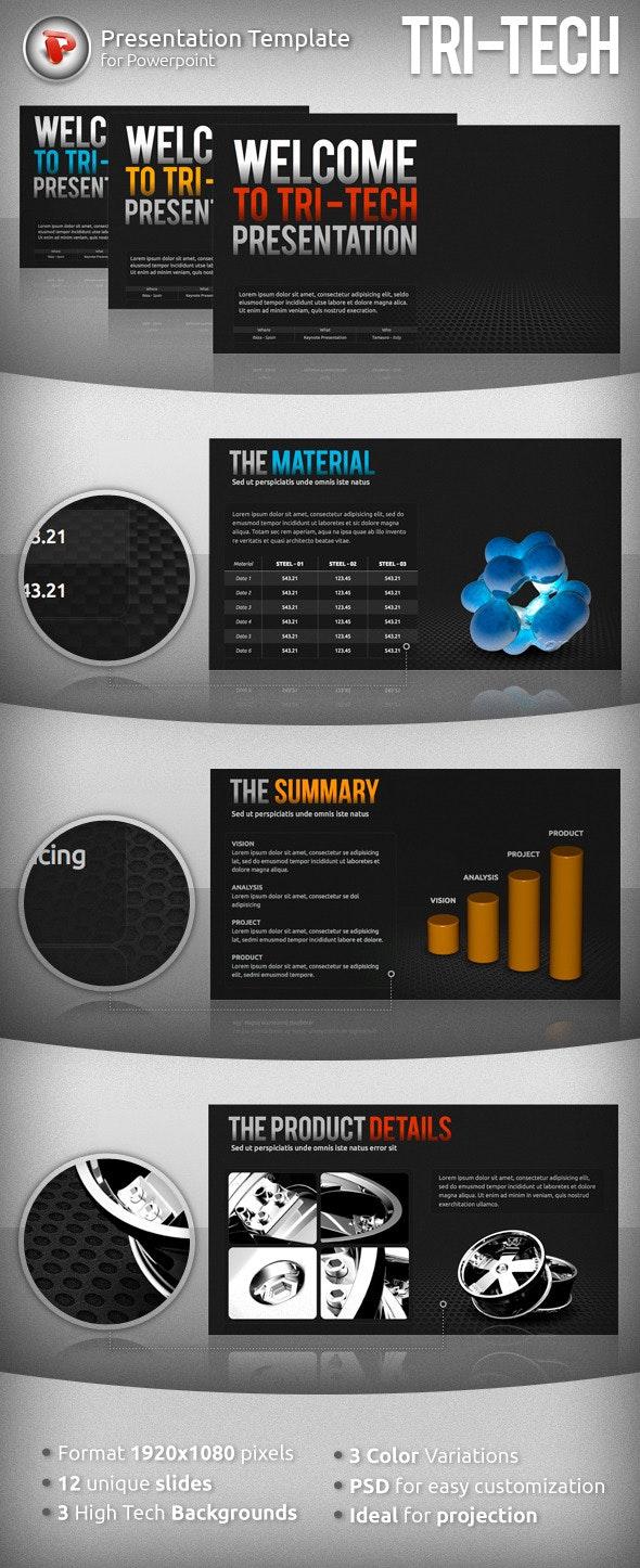 Tri-Tech Powerpoint Presentation - PowerPoint Templates Presentation Templates