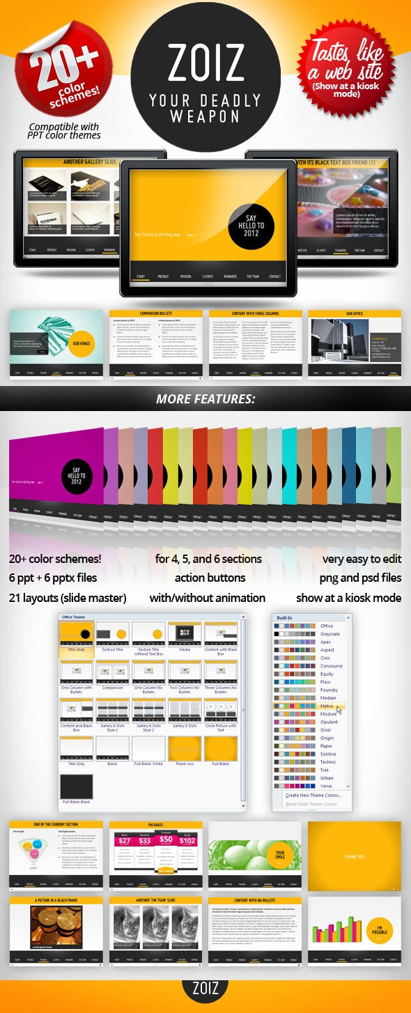 ZOIZ Animated PowerPoint Template - Creative PowerPoint Templates
