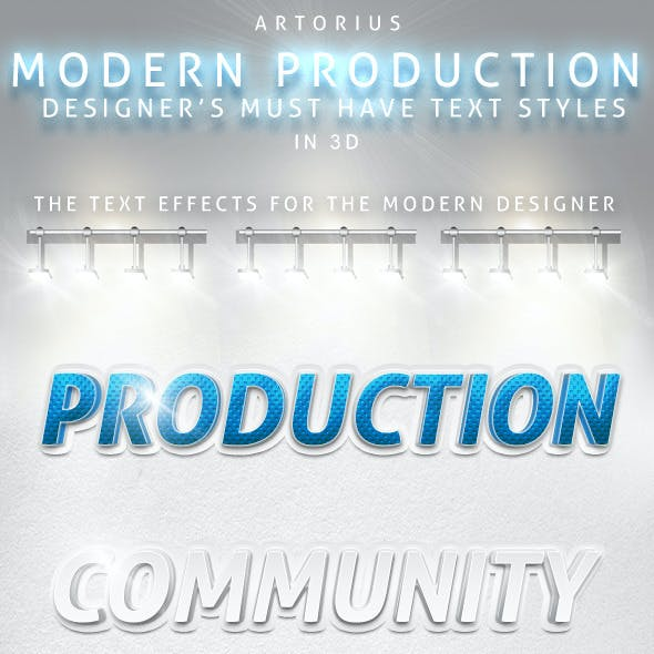 Modern Production - 3D Text Styles