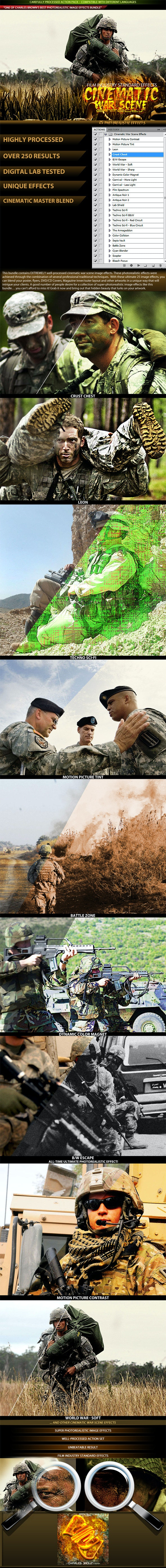 Cinematic War Scene Effects - Photo Effects Actions