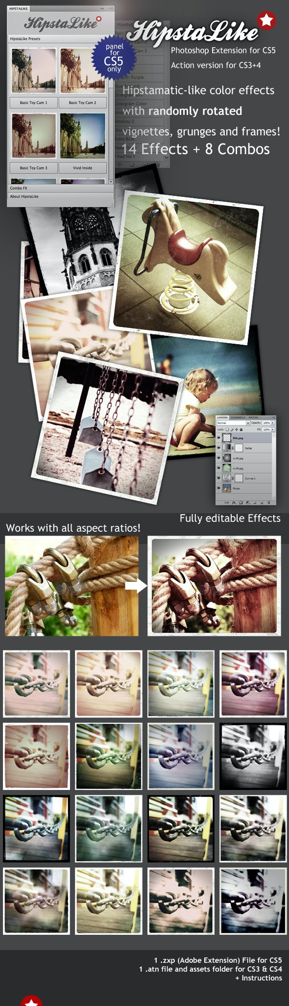 HipstaLike Actions - Photoshop Add-ons