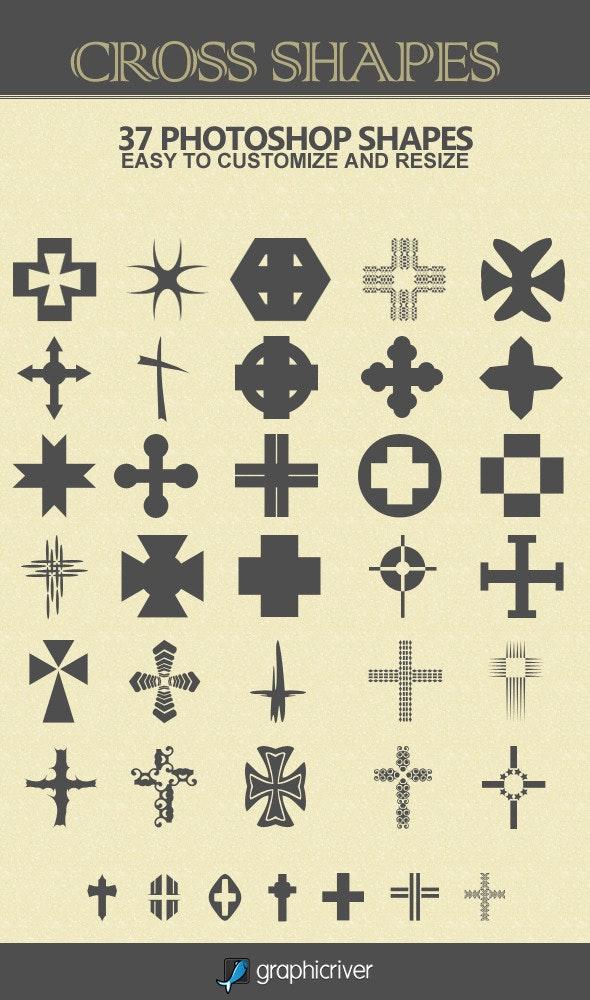 37 Cross Shapes - Symbols Shapes