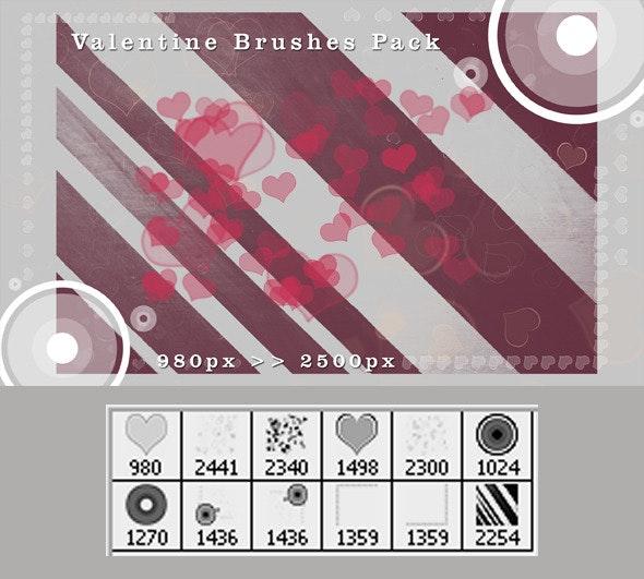Valentine Brushes Pack - Brushes Photoshop