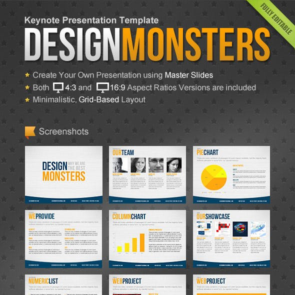 DesignMonsters Keynote Presentation Template