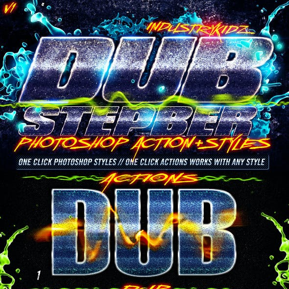 Dubstep Photoshop Actions & Styles