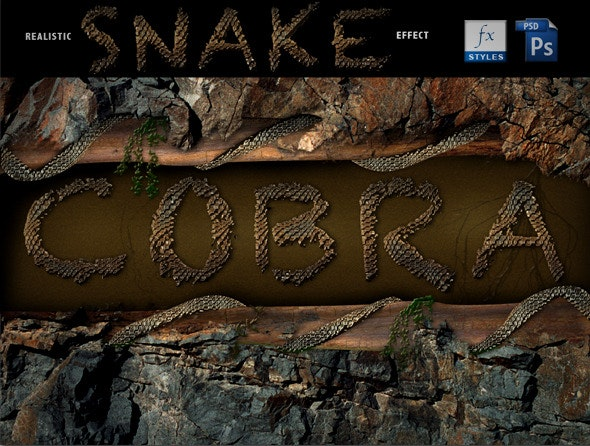 Realistic Cobra style - Photoshop Add-ons