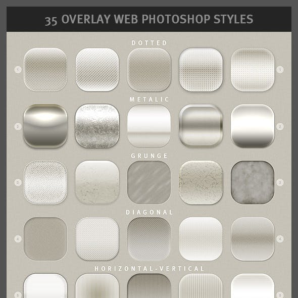 35 Overlay Web Photoshop Styles