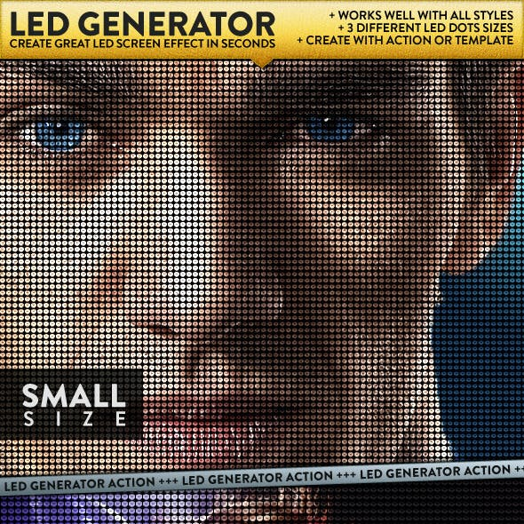 LED Dot Screen Effect Generator