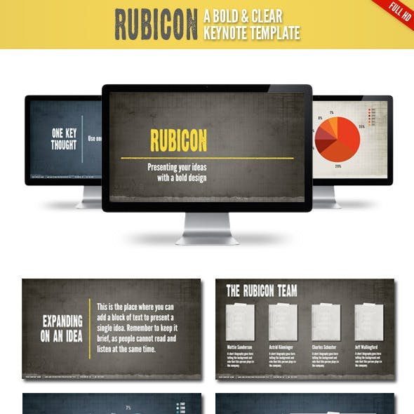 Rubicon Keynote Presentation Template