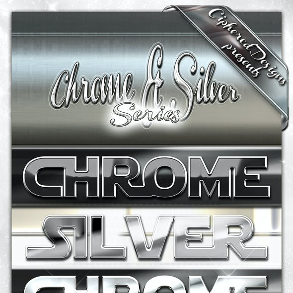 Chrome & Silver Series - Photoshop Styles