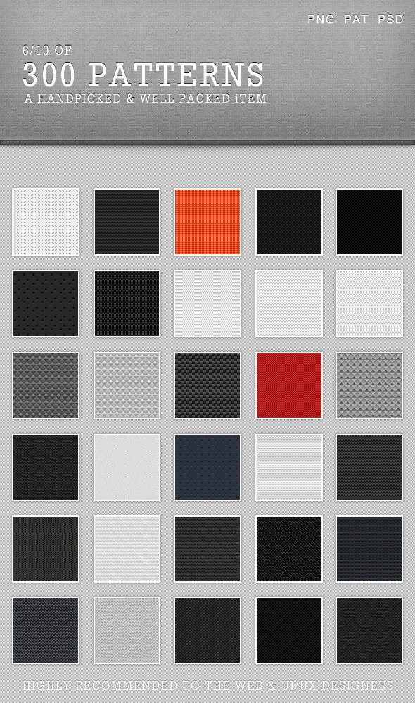 30Patterns For Web & Interfaces (PSD+PNG+.PAT) #06 - Miscellaneous Brushes
