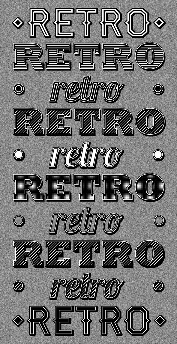 Retro Type Styles - Text Effects Styles