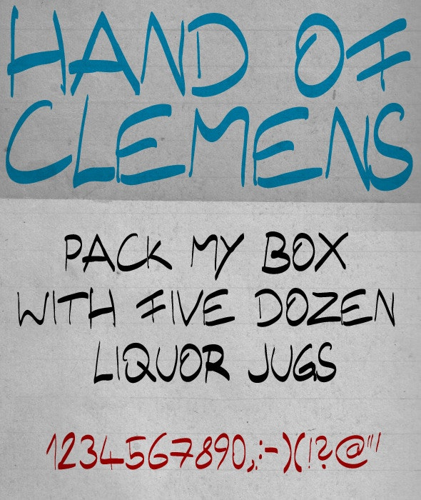 Hand of Clemens - Handwriting Fonts
