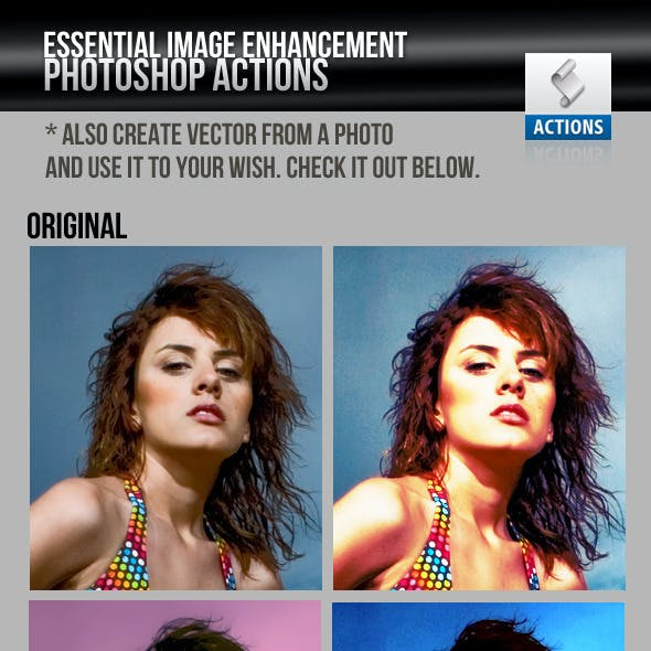 Image Enhancement / Manipulation Photoshop Actions