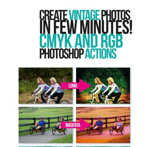 Vintage Photo Effects Action Pack