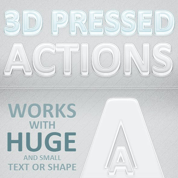 3D Pressed Light and Dark Actions