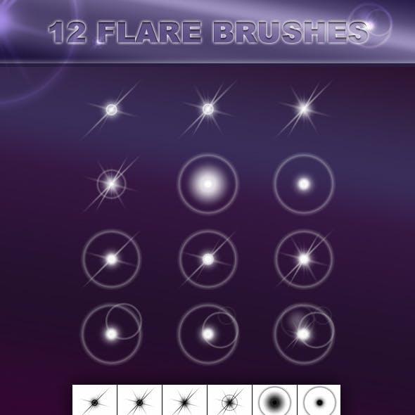 12 Flare Brushes
