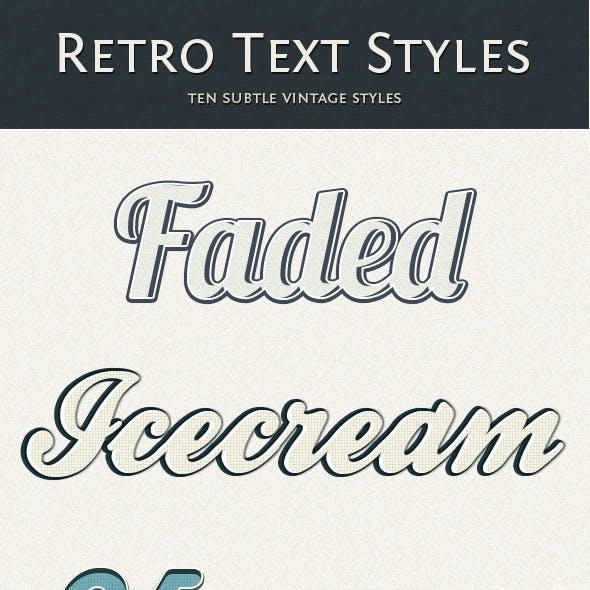 Retro Text Style - Subtle Vintage