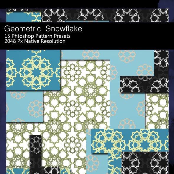 Geometric Snowflake Patterns