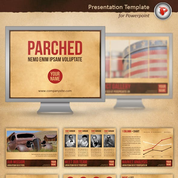 Parched Powerpoint Template