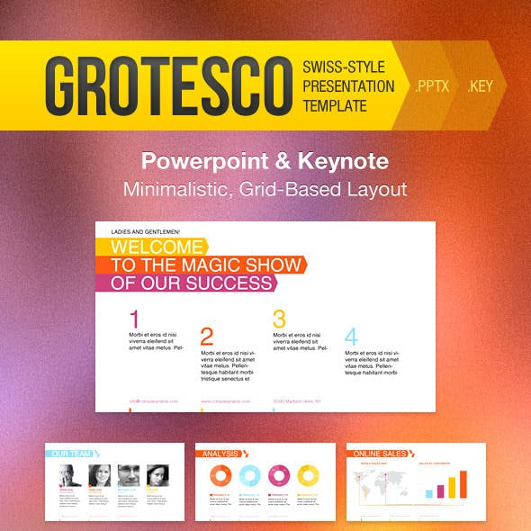 Grotesco Presentation Template