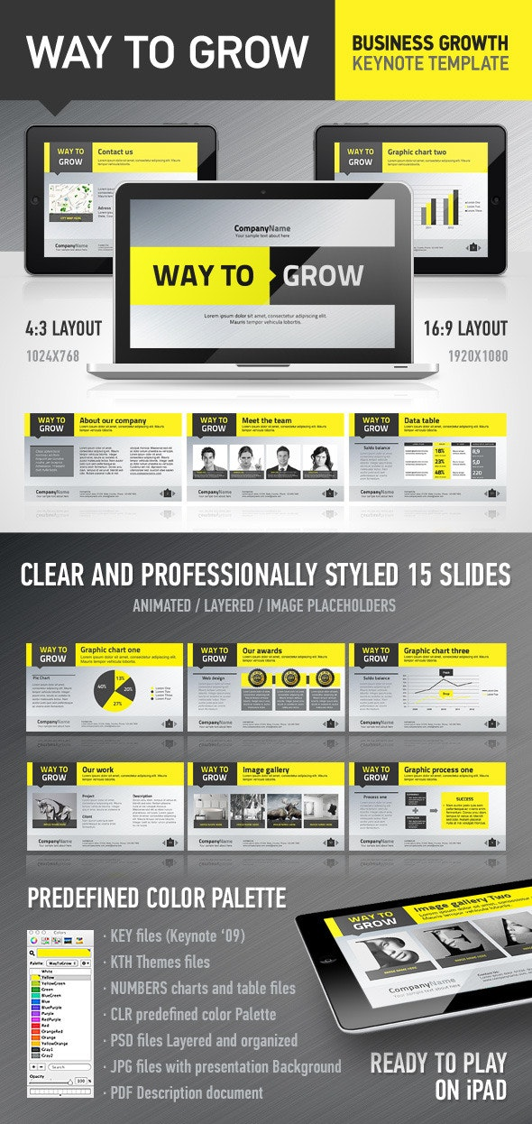 WayToGrow Keynote Template - Business Keynote Templates