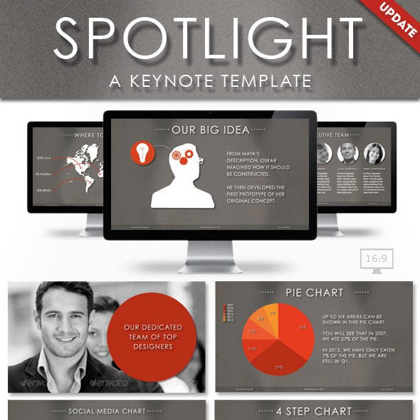 Spotlight Keynote Presentation Template