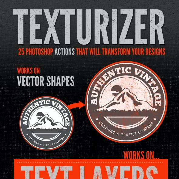 Texturizer - 25 Photoshop Texture Actions
