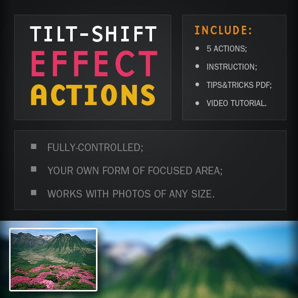 5 Tilt-shift Effect Actions