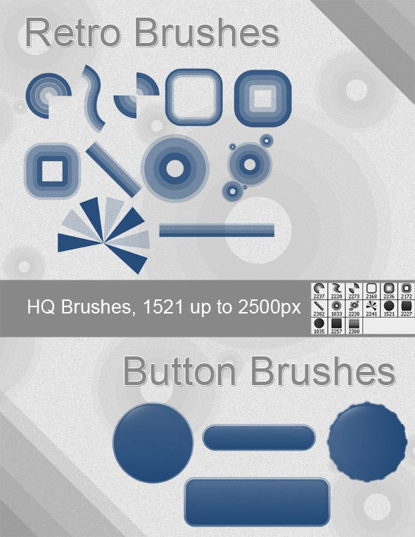 Retro and Button Brushes - Artistic Brushes