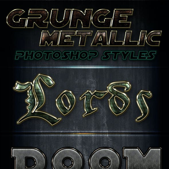 Metallic Grunge Photoshop Styles