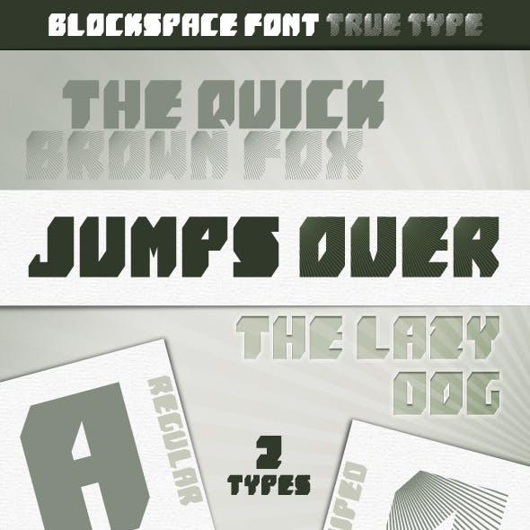 BlockSpace font