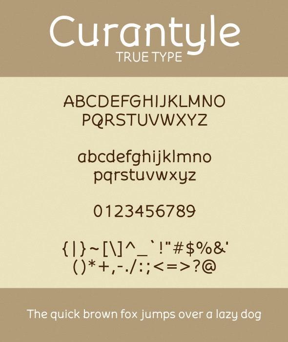 Curantyle True Type - Sans-Serif Fonts