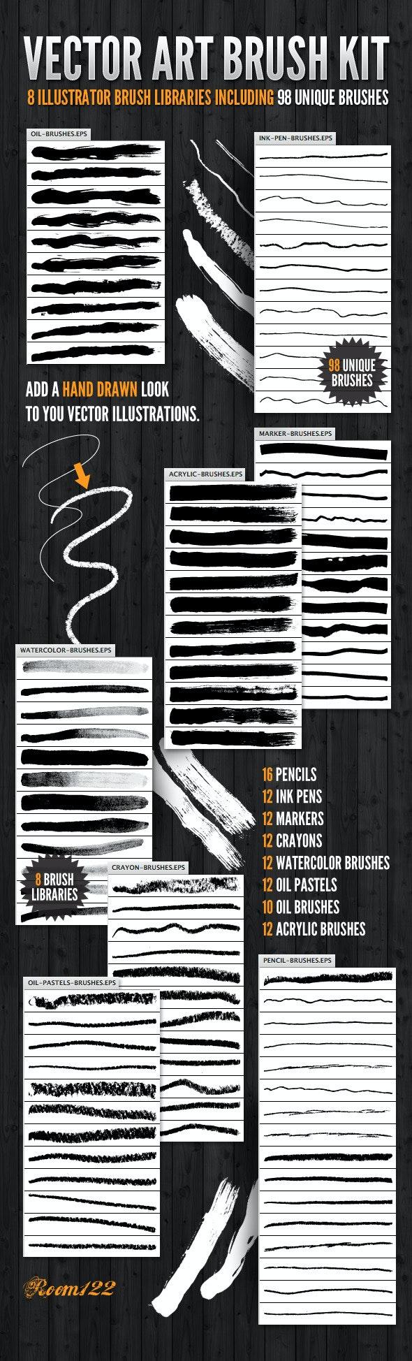 Vector Art Brush Kit - Artistic Brushes