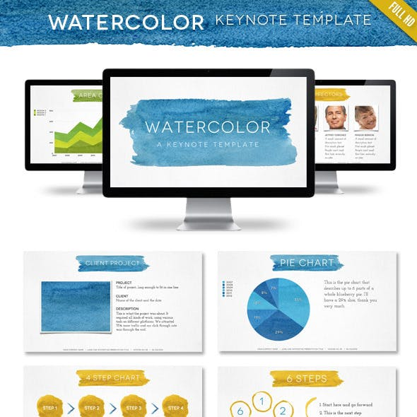 Watercolor Keynote Template