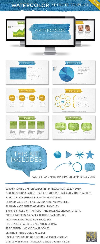 Watercolor Keynote Template - Keynote Templates Presentation Templates