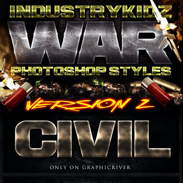 War Photoshop Layer Styles V2
