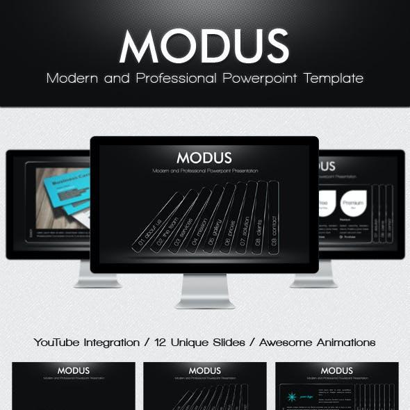 Modus - Modern Powerpoint Template
