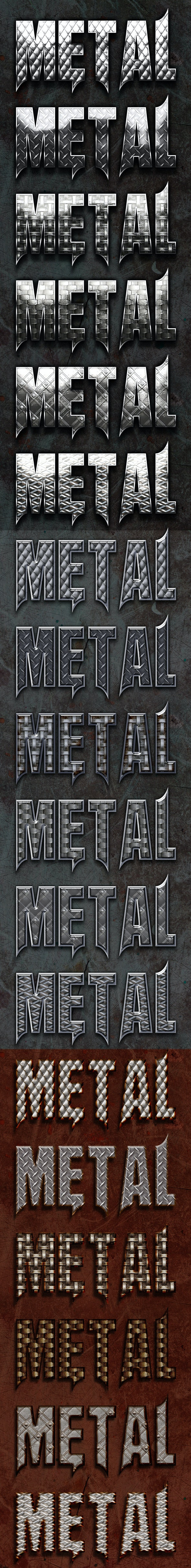 Bonded Metal Style - Text Effects Styles