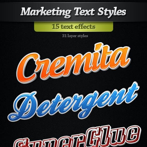 Marketinng Text Styles