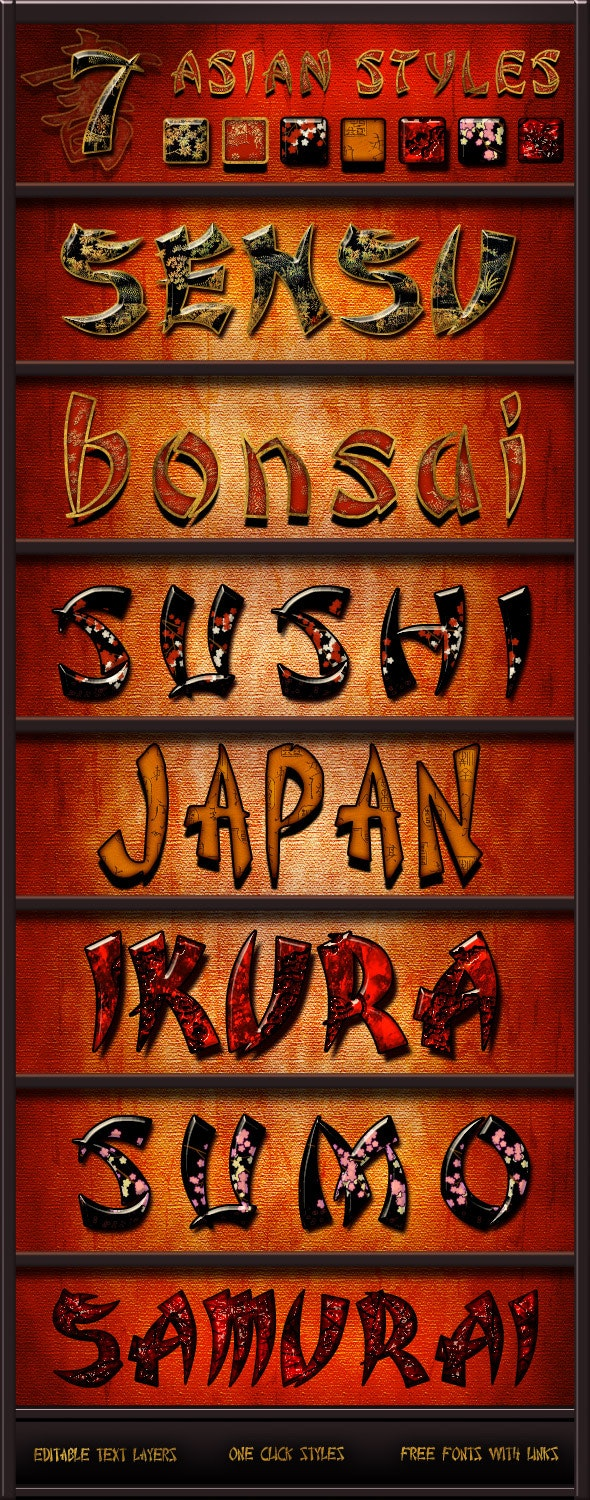 Asian Styles Pack - Text Effects Styles