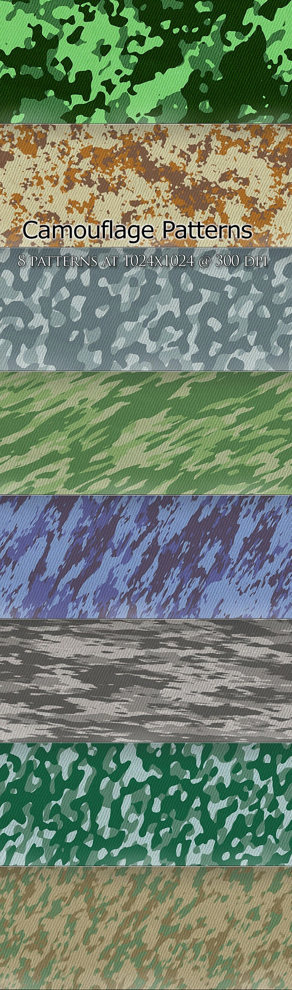 Cammo Patterns - Miscellaneous Textures / Fills / Patterns