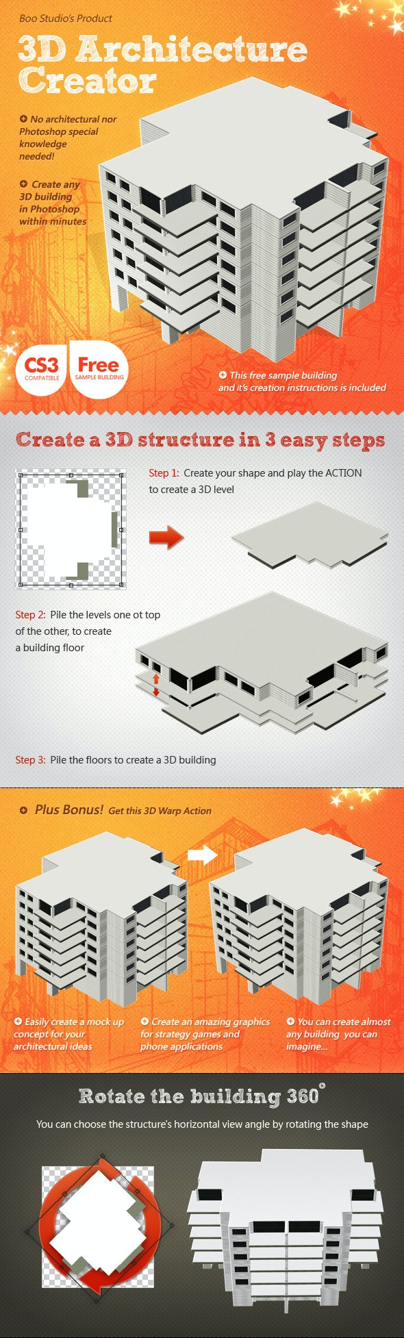 3D Architecture Creator - Building Generator - Utilities Actions