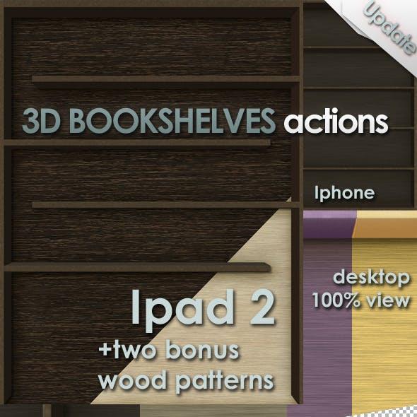 3D Bookshelves Actions