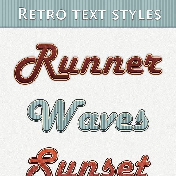 Retro Text Styles