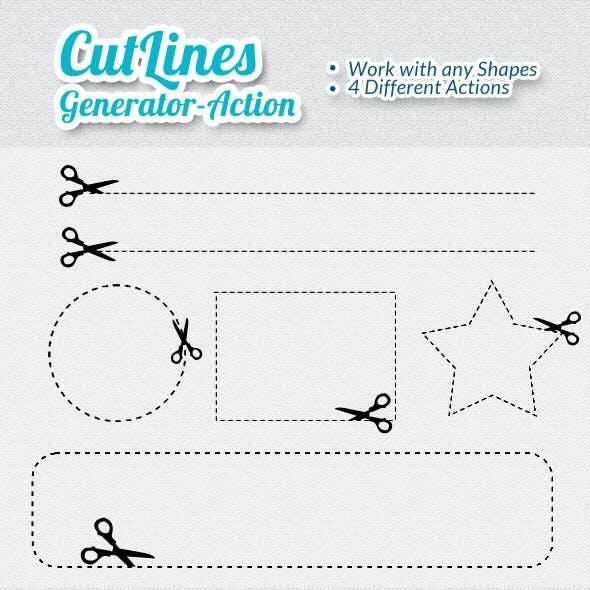Scicors Cut Lines Generator